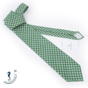 cravatta sartoriale cotone verde